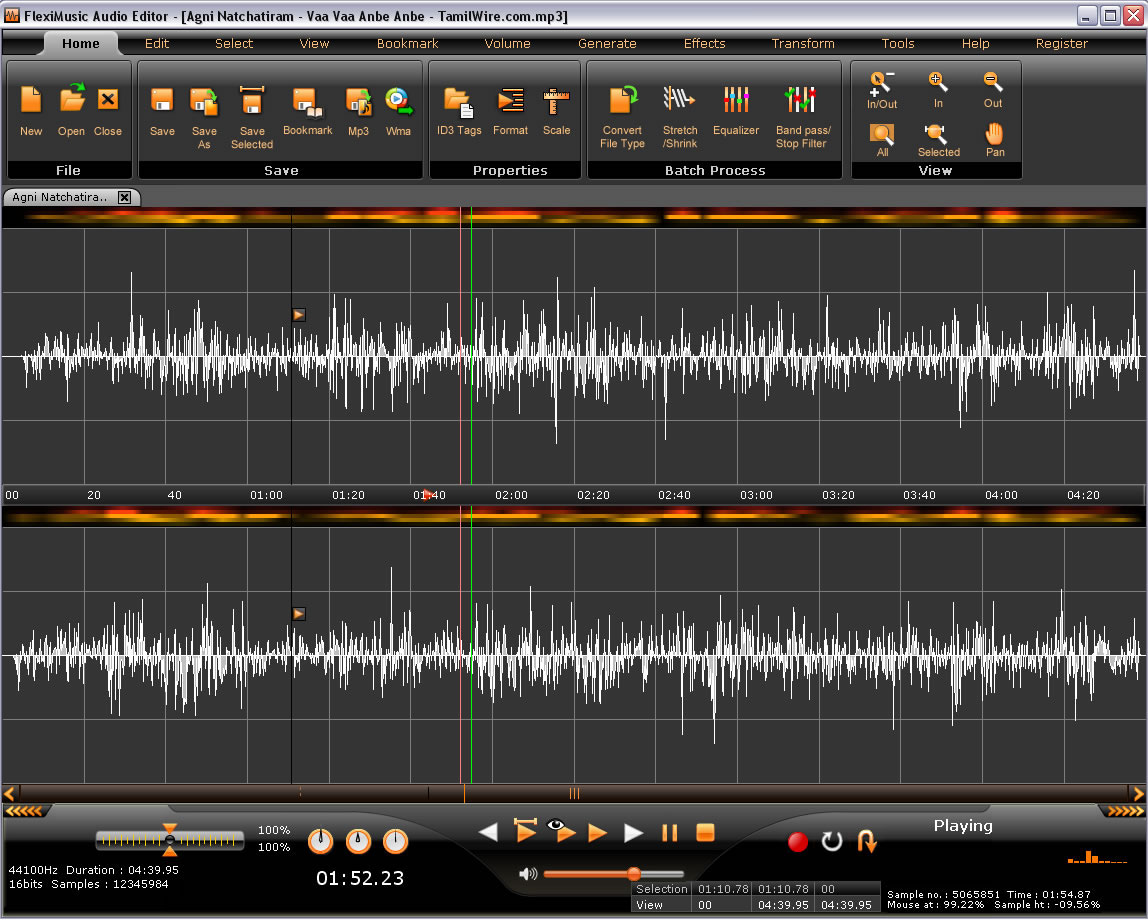 Windows 7 FlexiMusic Audio Editor May2011 full